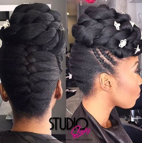 50 irresistible hairstyles for brides and bridesmaids black hair 4 bridesmaids updo for black hair urmus Choice Image