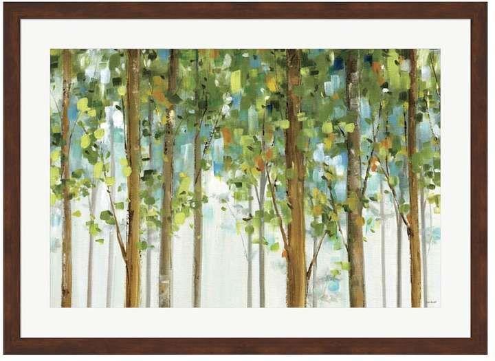 Metaverse art forest study i framed wall art