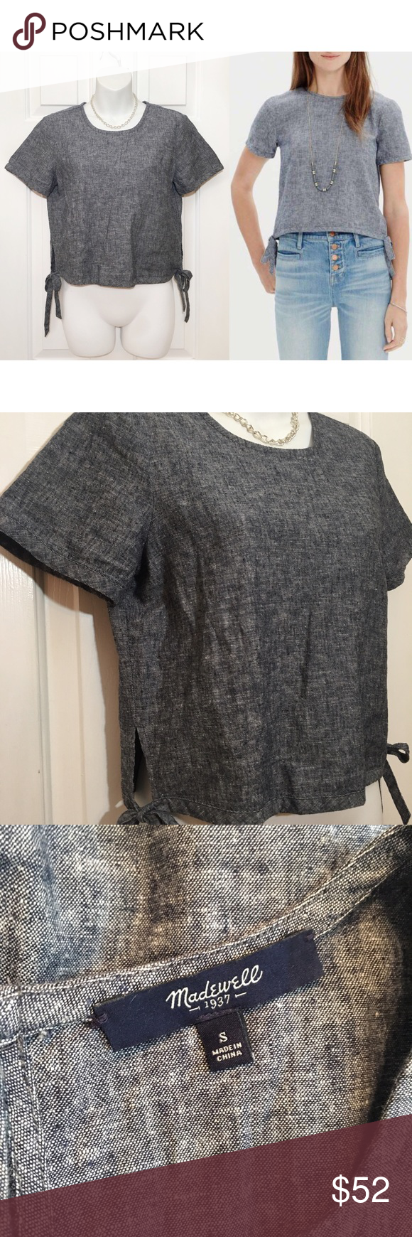 мα∂єωєℓℓ - Denim Semi-Cropped Top Great as a layering piece   ☞ ℓσωєѕт?  Prices are firm unless offer is reasonable  Bundle option is available   ☞ мσ∂єℓ? I do not model my items Comment with specific measurement requests Please allow 2-3 days for request fulfillments   ☞ яєѕєяνє? тяα∂є?  I do not reserve or trade items Madewell Tops