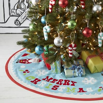 Tree Skirts: Merry Christmas Tree Skirt in All Holiday Décor