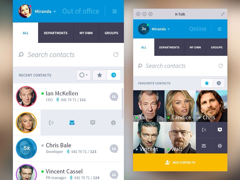 K-talk IM - by Peter Gajdos for Plat4M | #ui