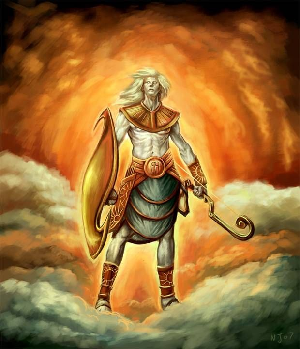 Hyperion Greek Myth A Titan Son Of Uranus And Gaia He Fathered Helios Sun Selenemoon Eosdawn Was An Obscure Figure In The Mythology