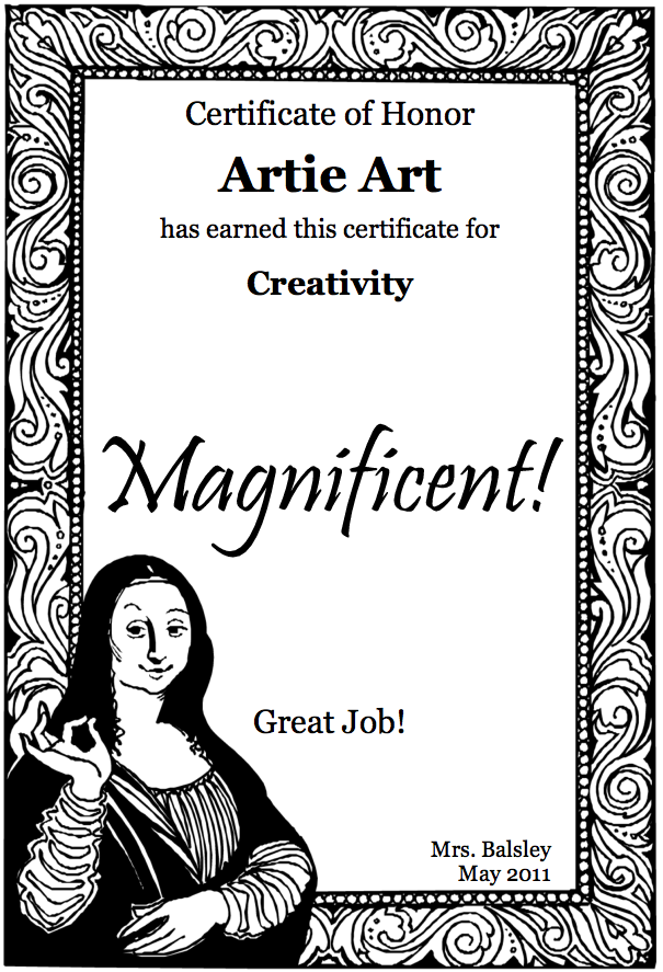 Free Printable Certificates In 2018 Youth Art Month Ideas