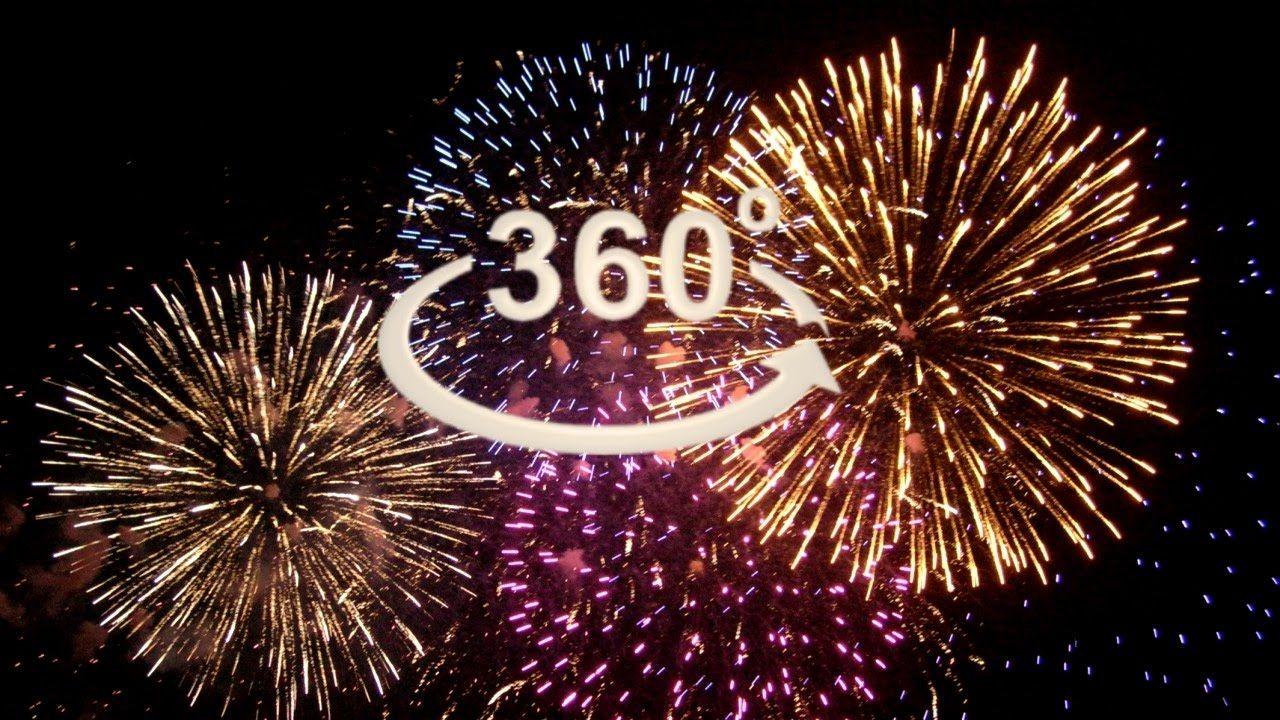 360 Video Vr 4k Fireworks Vr Explosion Xxl Virtual Reality Video 360