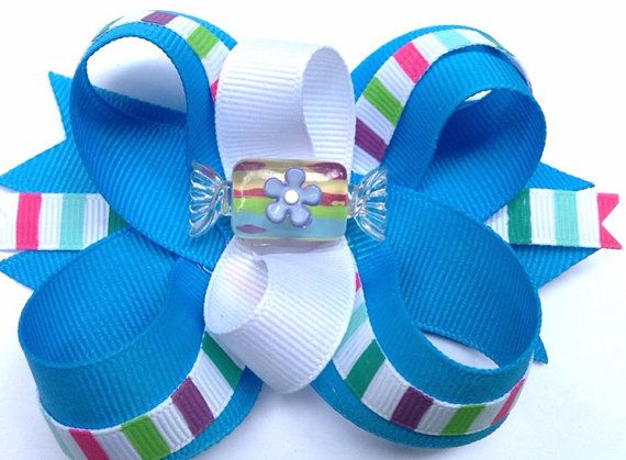 Candy Shop  Girls hair bow clip headband pig tail by CreateAlley, $8.99