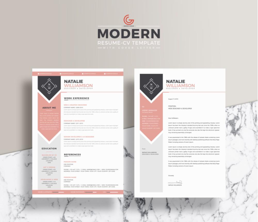 The Best Free Creative Resume Templates Of 2019 Skillcrush Creative Resume Template Free Unique Resume Template Free Resume Template Word
