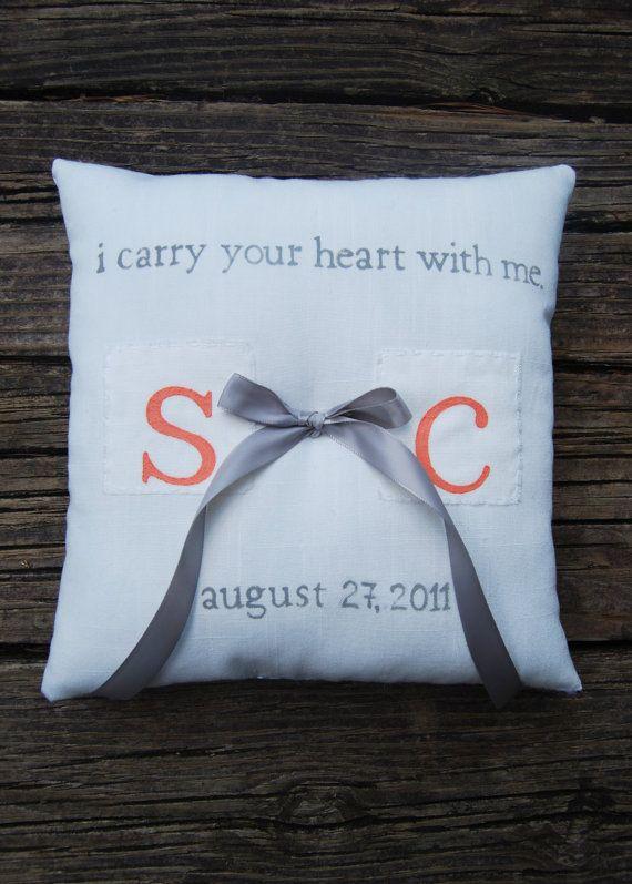 Ring Bearer pillow- e.e. cummings poem & Ring Bearer pillow- e.e. cummings poem | Wedding ideas | Pinterest ... pillowsntoast.com