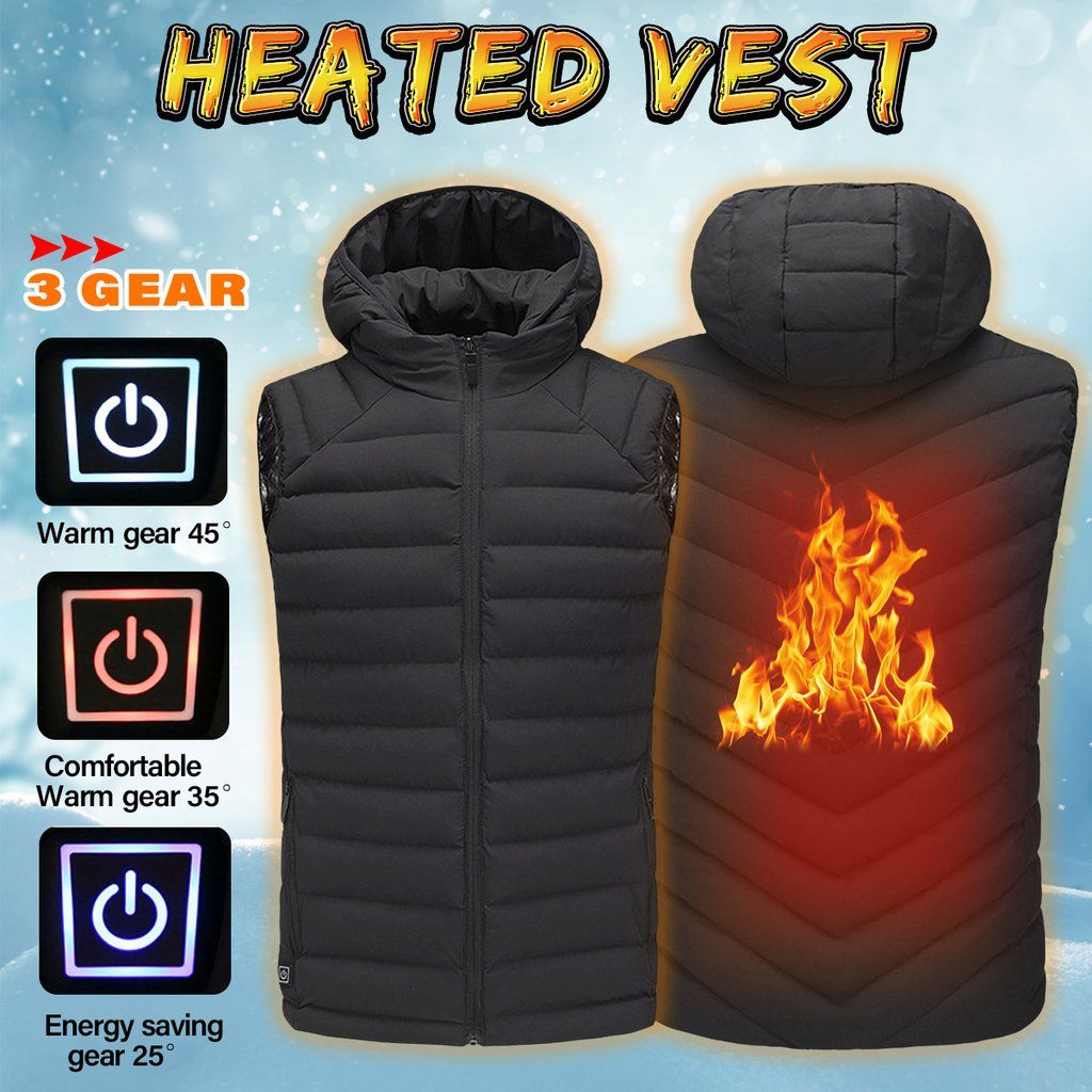 Heated Vest Canada Safurance Mens Safety Vest Winter Heated Vest Usb Hooded Work