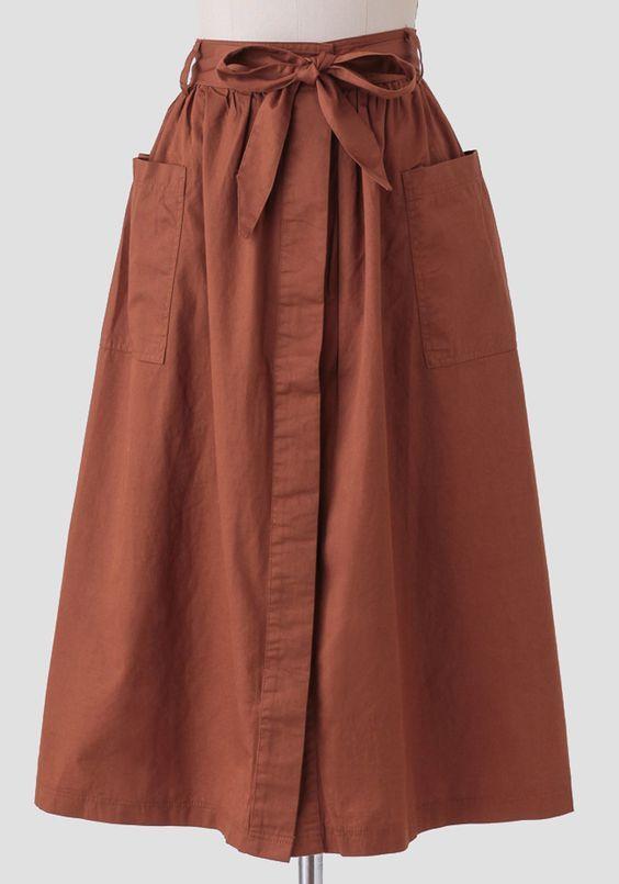 stripes midi skirt. crop top. heels.