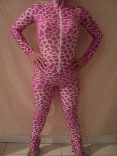 catsuit body suit pink giraffe nicki minaj costume inspiration size - nicki minaj halloween ideas