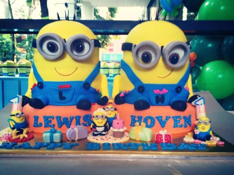 Minion Theme Party by Birthday Castle Entertainment.. Love the Minion Cakes!