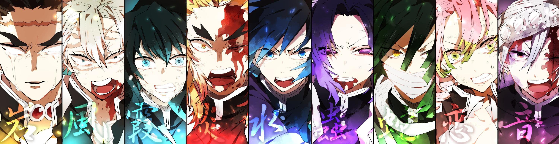 渕 on Slayer anime, Anime galaxy, Anime fanart