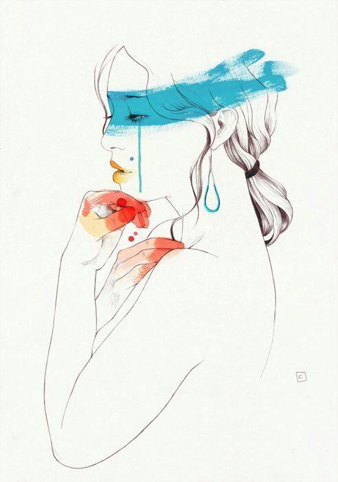 """Las noches se hacen largas junto a los días infinitos. Y un """"sin ti""""…tan eterno que hoy no puedo… Fingiendo sonrisas de plástico que duelen, duele el aire que me roza, duele…"""