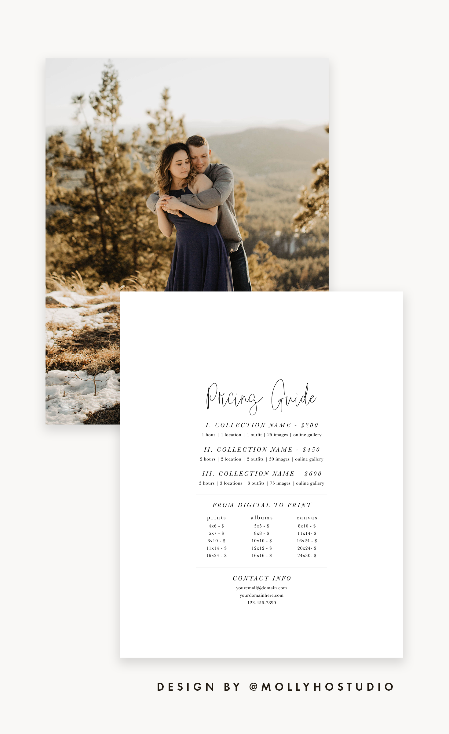 Photography Price List Template Photography Pricing Guide Etsy Pricing Guide Photography Photography Price List Photography Price List Template