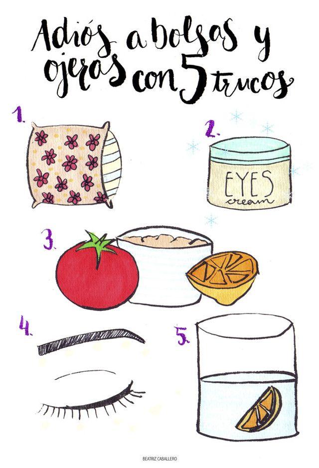 5 trucos para eliminar bolsas y ojeras