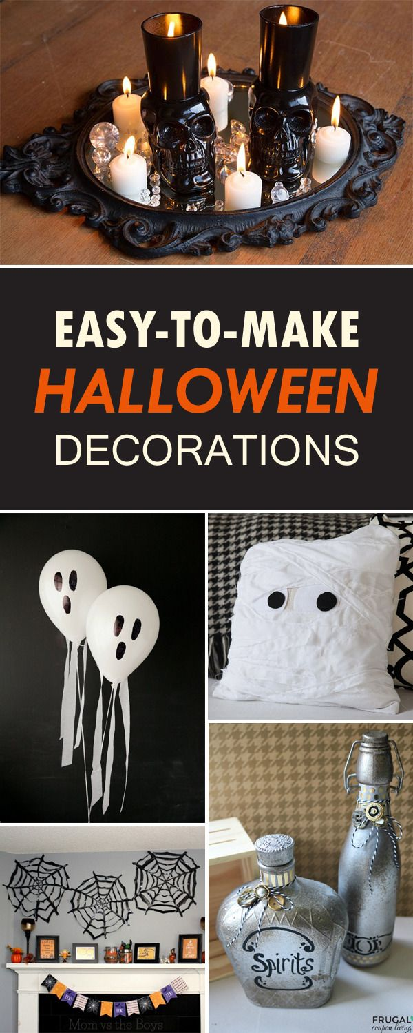 Easy-to-Make DIY Halloween Decorations → Halloween Pinterest - halloween decorations diy