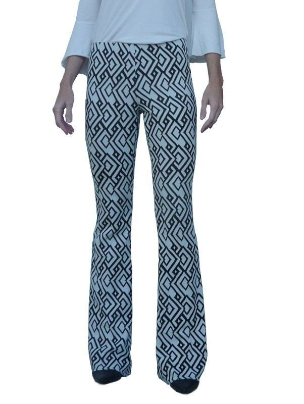 9f36e1b53 calça flare malha jacquard estampada - Handmade - moda sob medida ou pronta  entrega