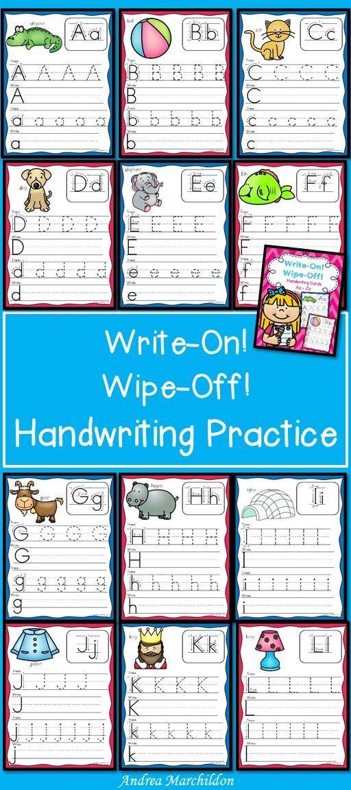 Alphabet Handwriting Practice Write And Wipe Skola Larare Forskola