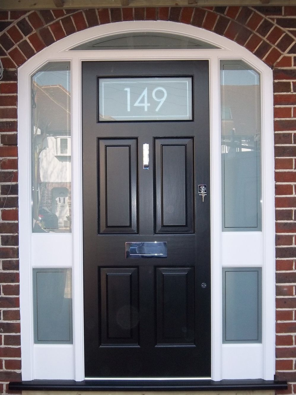Georgian Style Bespoke Door With An Etched Glass Style Finish