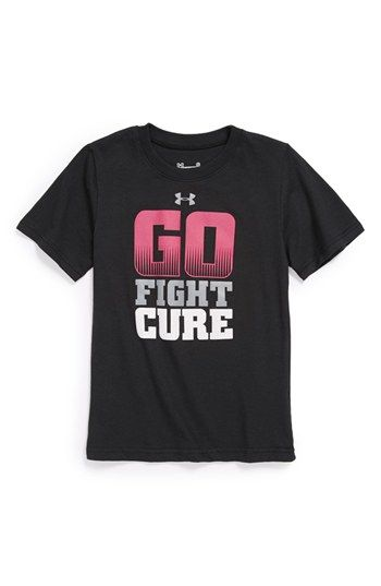 6a91ba89 Under Armour 'Go Fight Cure' Power In Pink® T-Shirt (Little Boys) available  at #Nordstrom