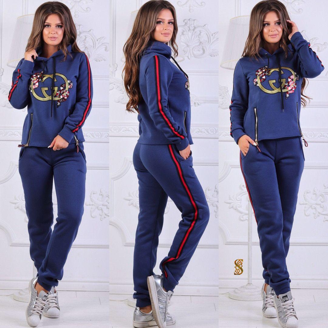 e8cdad607848 Утепленный женский спортивный костюм / трехнитка / Украина 6-835 в ...