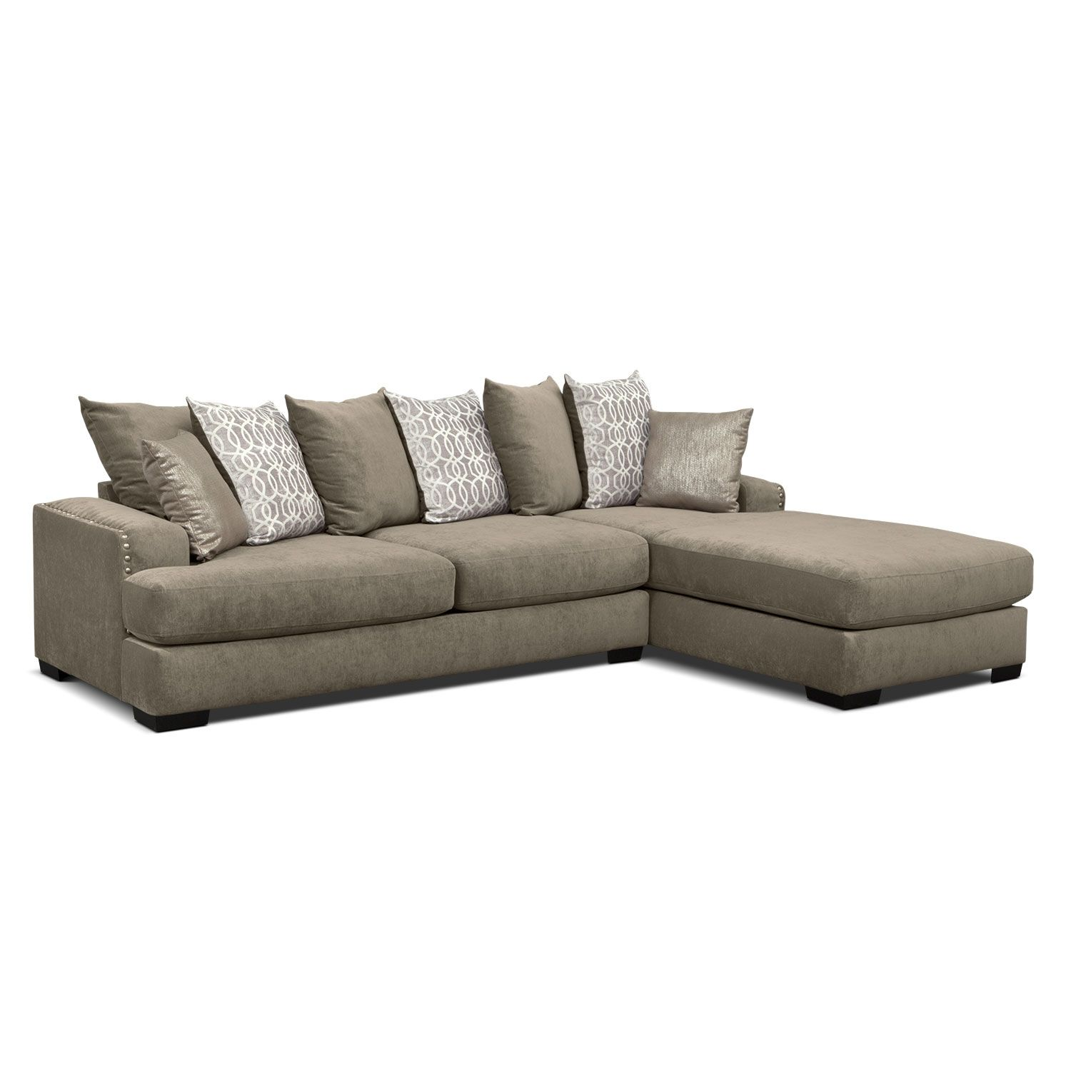 Right on Beat. The platinum-finished Tempo sectional living room ...