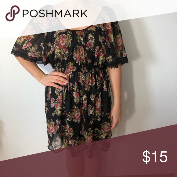0d84414738 Floral and lace dress. Target floral and lace dress with black slip dress  connected underneath. Gently used. Xhilaration Dresses Midi