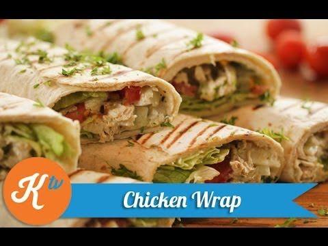 Resep Chicken Wrap Healthy Chicken Wrap Recipe Video Chicken Wraps Resep Makanan Makan Malam Sehat