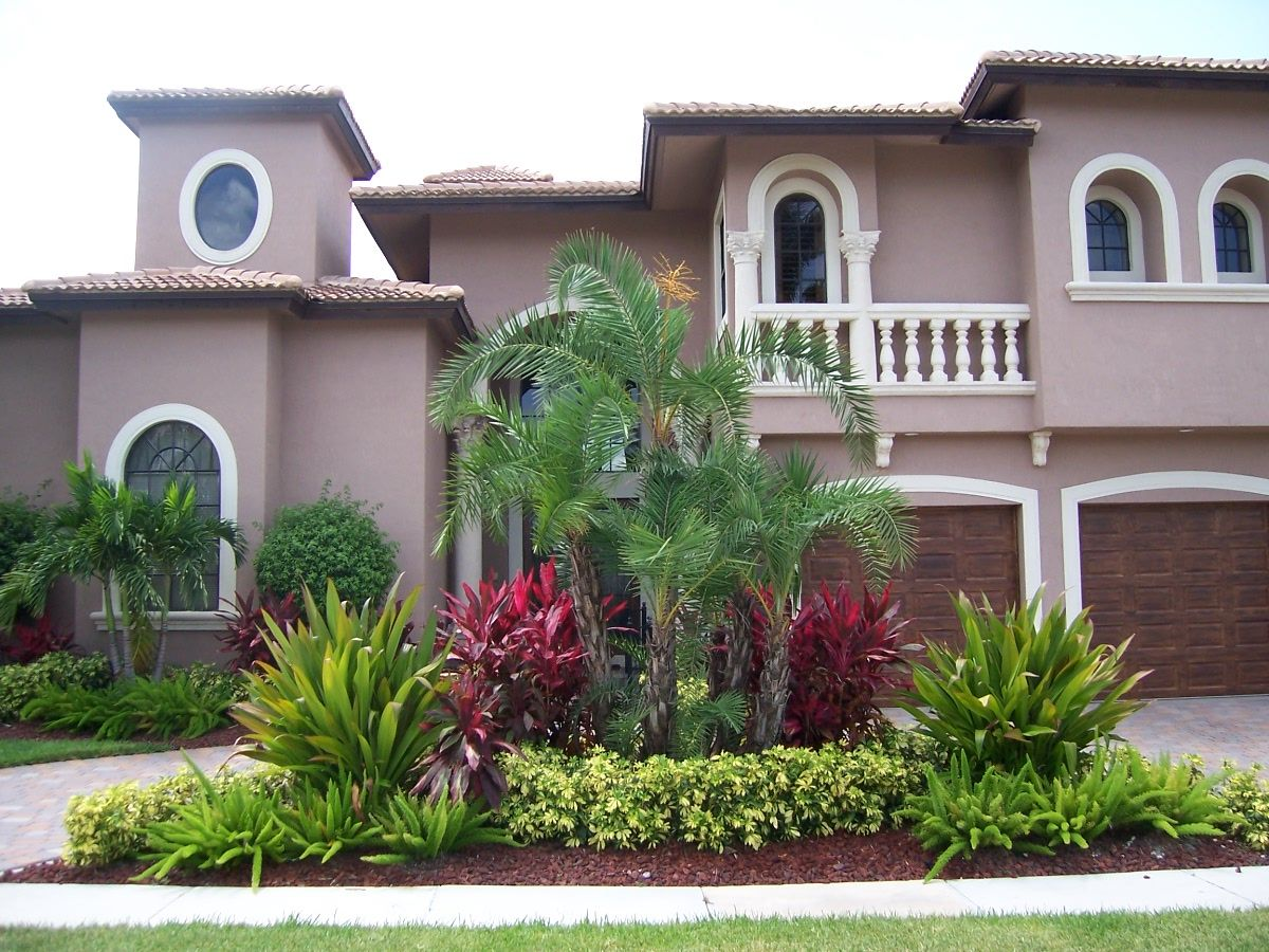 Front house garden plan ideas - Designing Exteriors Home Ideas Front Yard Garden Landscaping Decoration With Trees And Plants For Planning Design Front Yard Ideas Tropical Landscaping