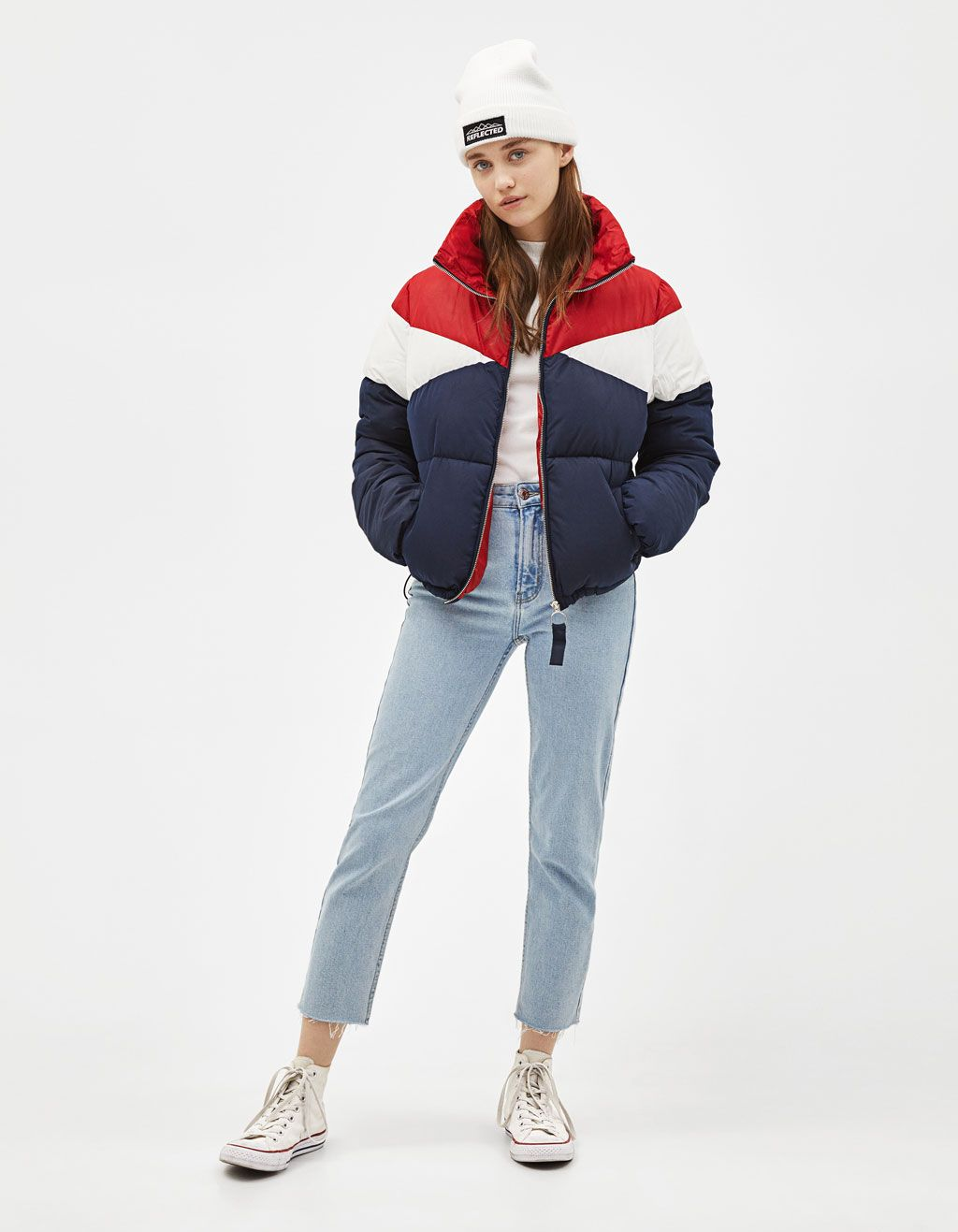 Colour Block Puffer Jacket Discover This And Many More Items In Bershka With New Products Every Week Puffer Jacket Outfit Puffy Jacket Outfit Bershka Outfit [ 1317 x 1024 Pixel ]