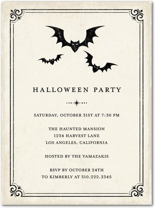 1000+ images about Halloween invites on Pinterest | Halloween ...