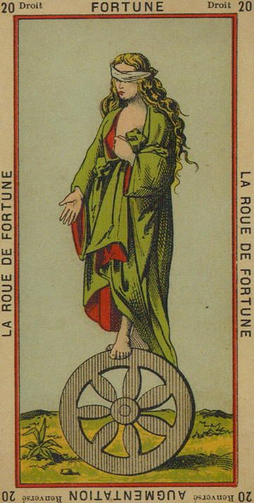 Wheel Of Fortune - Etteilla Tarot: Book Of Thoth