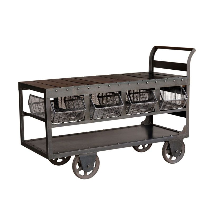 Factory Trolley Urban Vintage From Andy Thornton I Want This As An Indoor Outdoor Rolling Bar