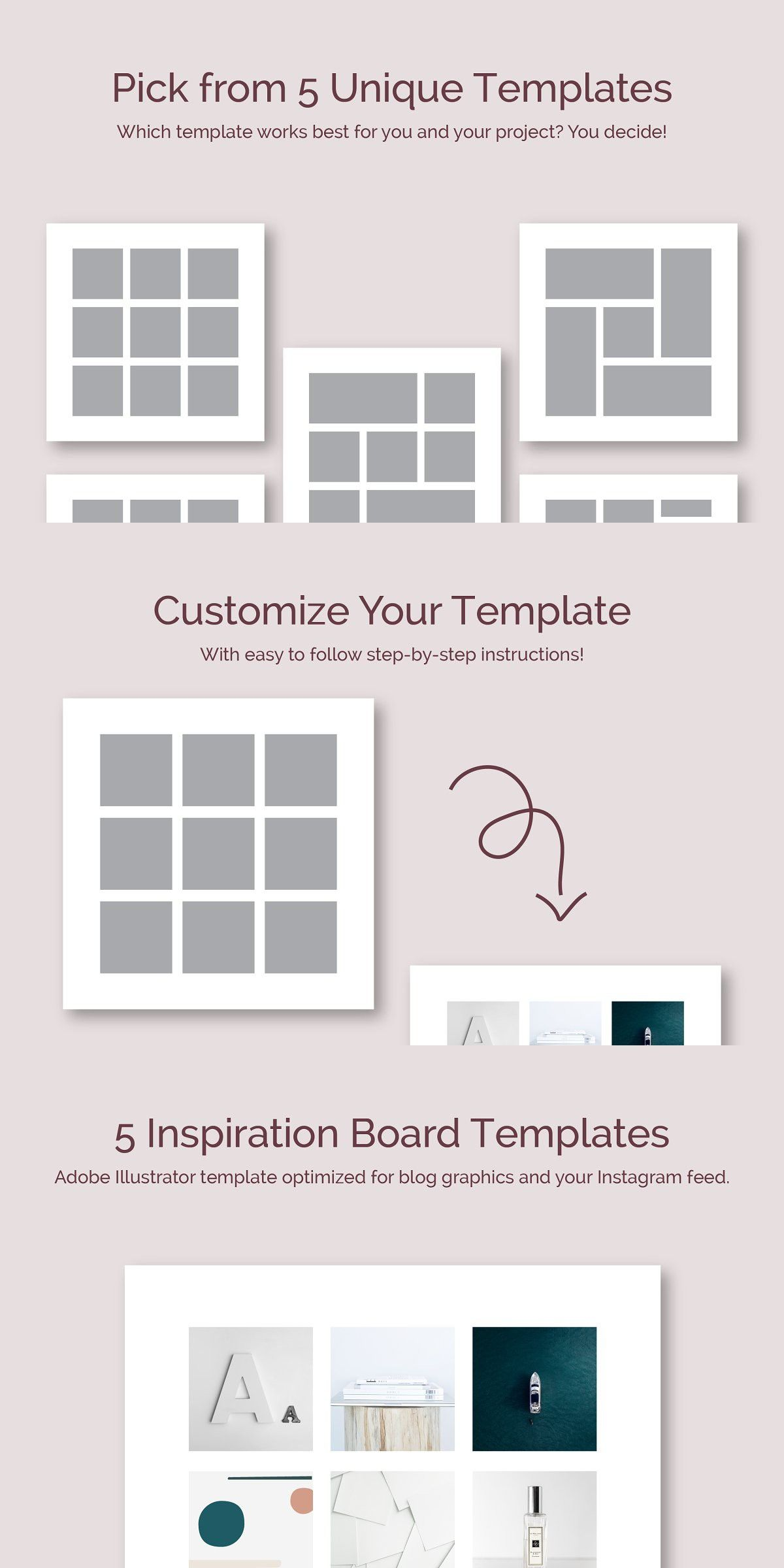 5 Inspiration Board Templates Inspiration Boards Templates Design Projects