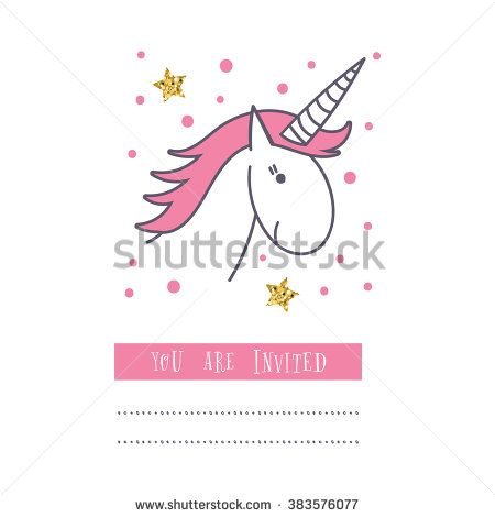 Happy birthday card with unicorn baby shower invitation card design happy birthday card with unicorn baby shower invitation card design birthday invitation vector design template stopboris Image collections