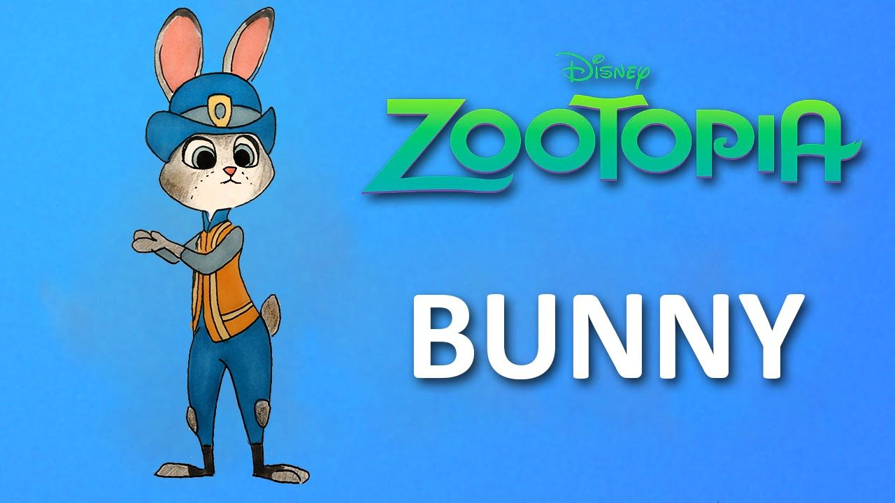 How To Draw Judy Hopps From Disney Pixar Zootopia Character Step