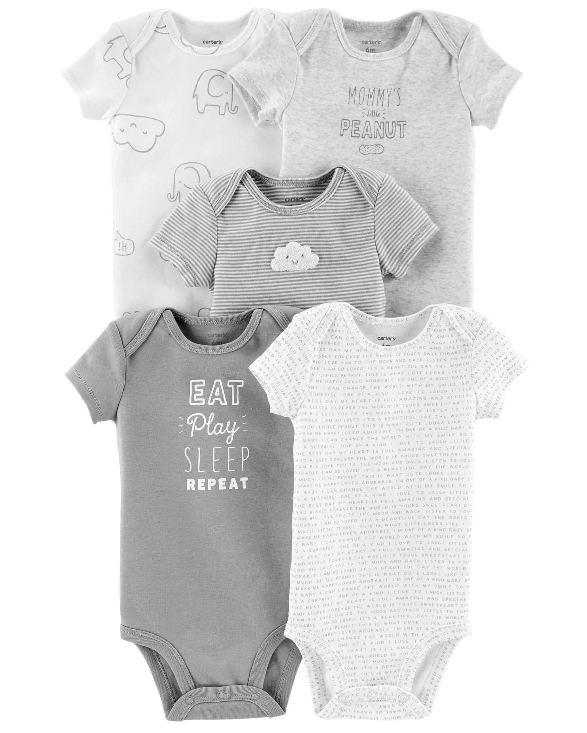 9156c9a9adc0 Baby Girl 5-Pack Neutral Original Bodysuits