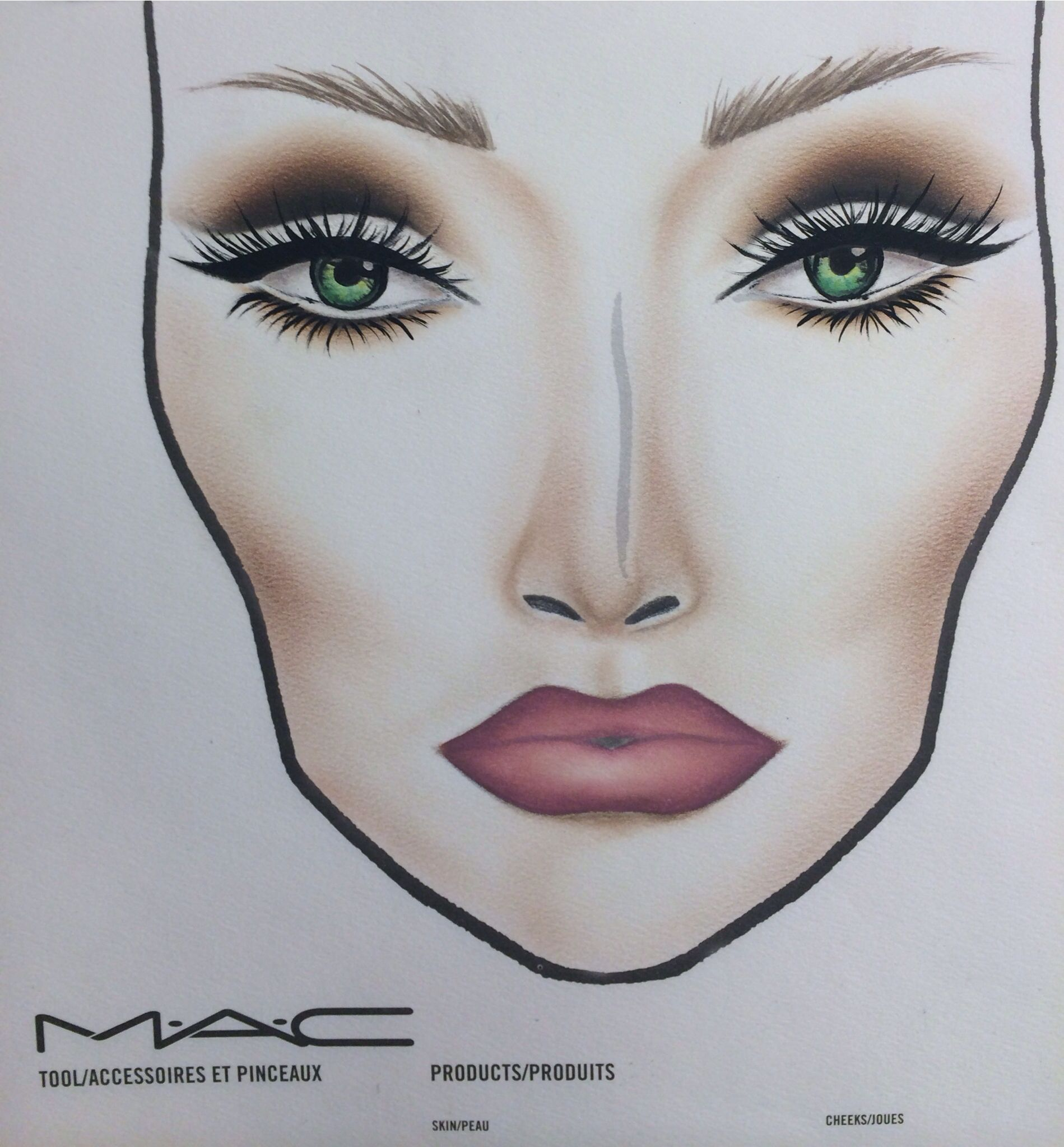 Cut crease face chart face charts. Pinterest Face