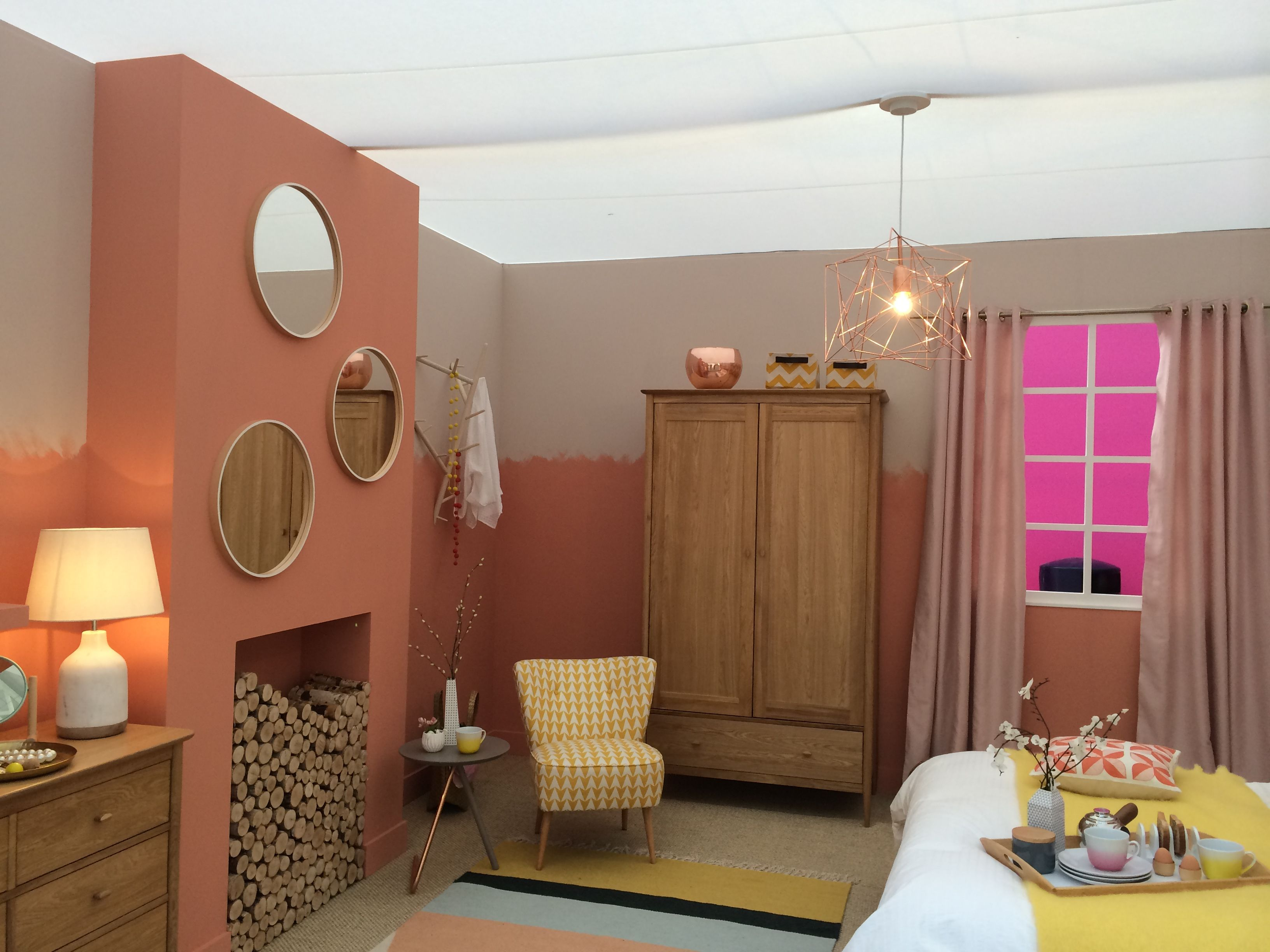Copper blush szukaj w google wn trza i architektura for Bedroom ideas rose gold