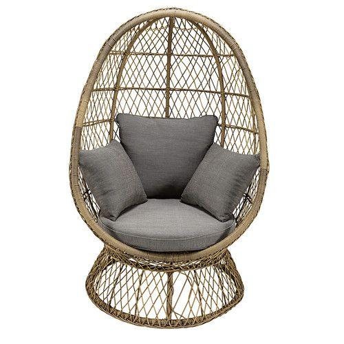 fauteuil oeuf de jardin en resine