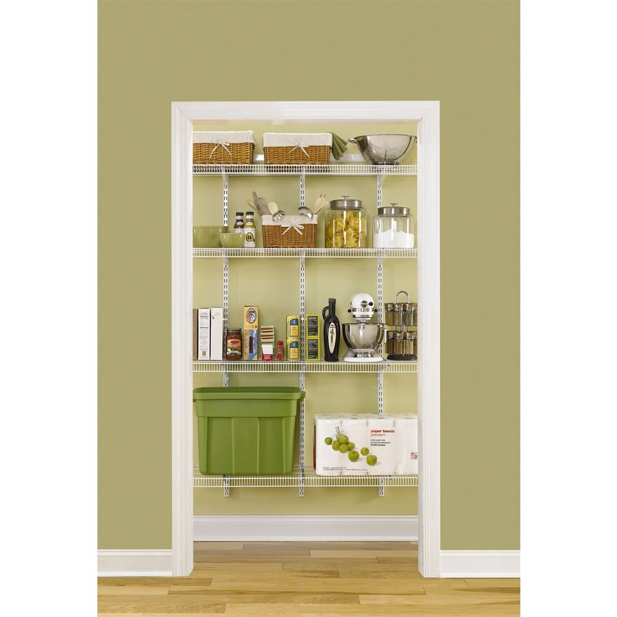 Kitchen Storage Lowes: Pantry In Laundry Room -- Shop Rubbermaid Fasttrack 4-ft