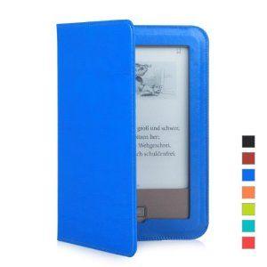 Mulbess Tolino Shine Premium Leder Schutzhülle Hülle Tasche Lederhülle Sleeve Cover für Tolino Shine Farbe Blau