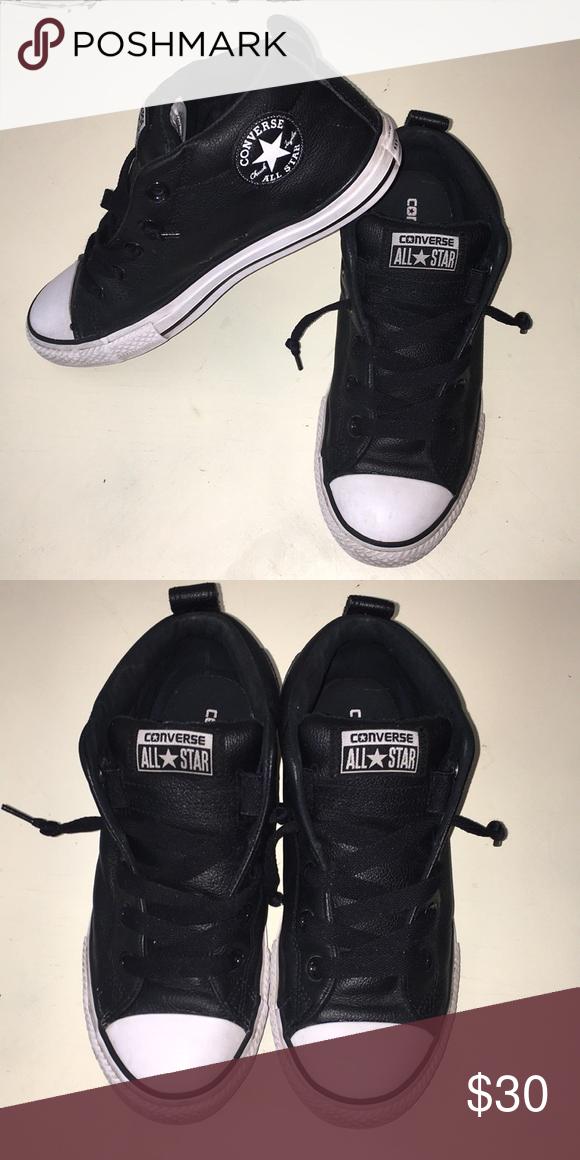 Black Converse High Tops Size 4 | Black