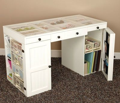 Ez View Craft Desk Giveaway November 2009 Creating Keepsakes Craft Desk Craft Room Office Craft Room Storage