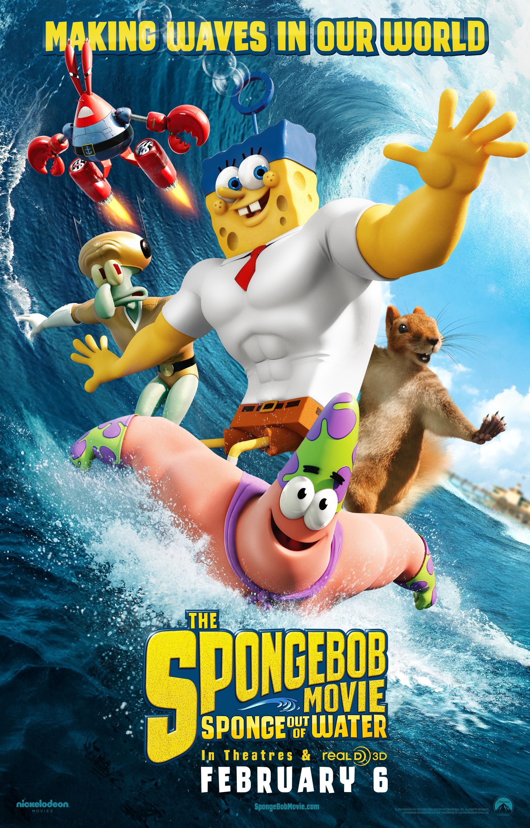 The Spongebob Movie Sponge Out Of Water Releases To Theaters Tomorrow 2 6 15 Be Sure To G Bob Esponja La Pelicula Peliculas Animadas Para Ninos Bob Esponja