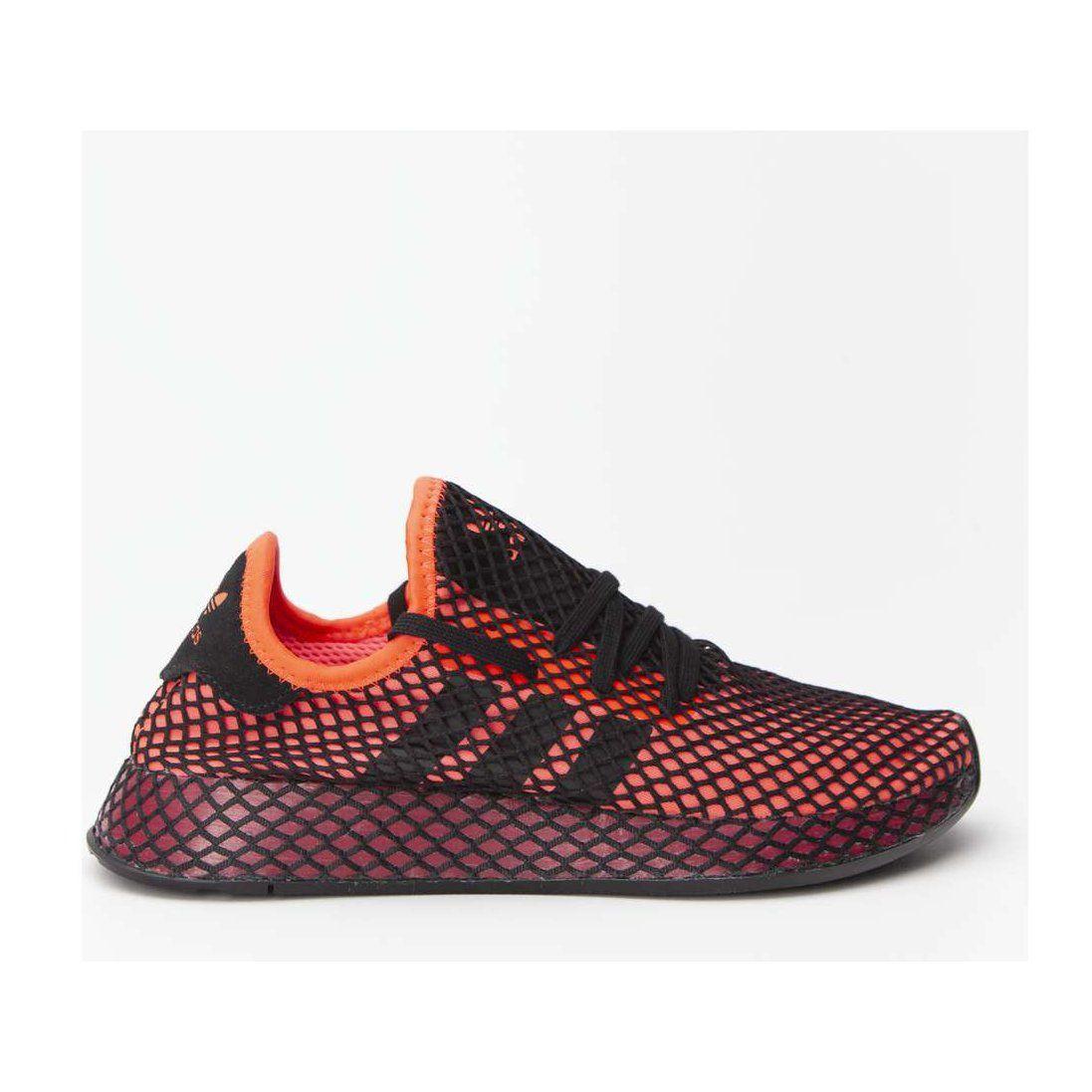 Sportowe Meskie Adidas Adidas Wielokolorowe Deerupt Runner 661 Solar Red Core Black Collegiate Burgundy Sneakers Men Adidas Sneakers