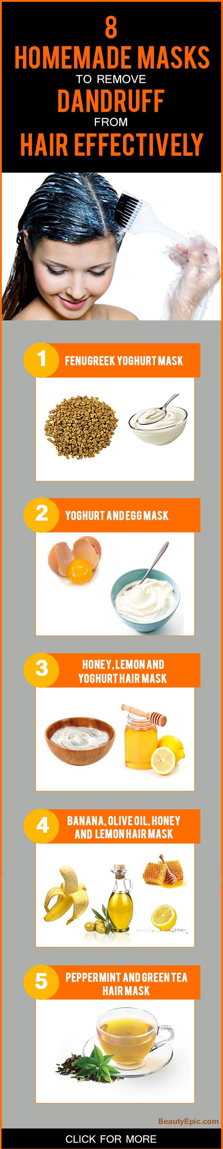 8 Homemade Masks To Remove Dandruff From Hair Effectively