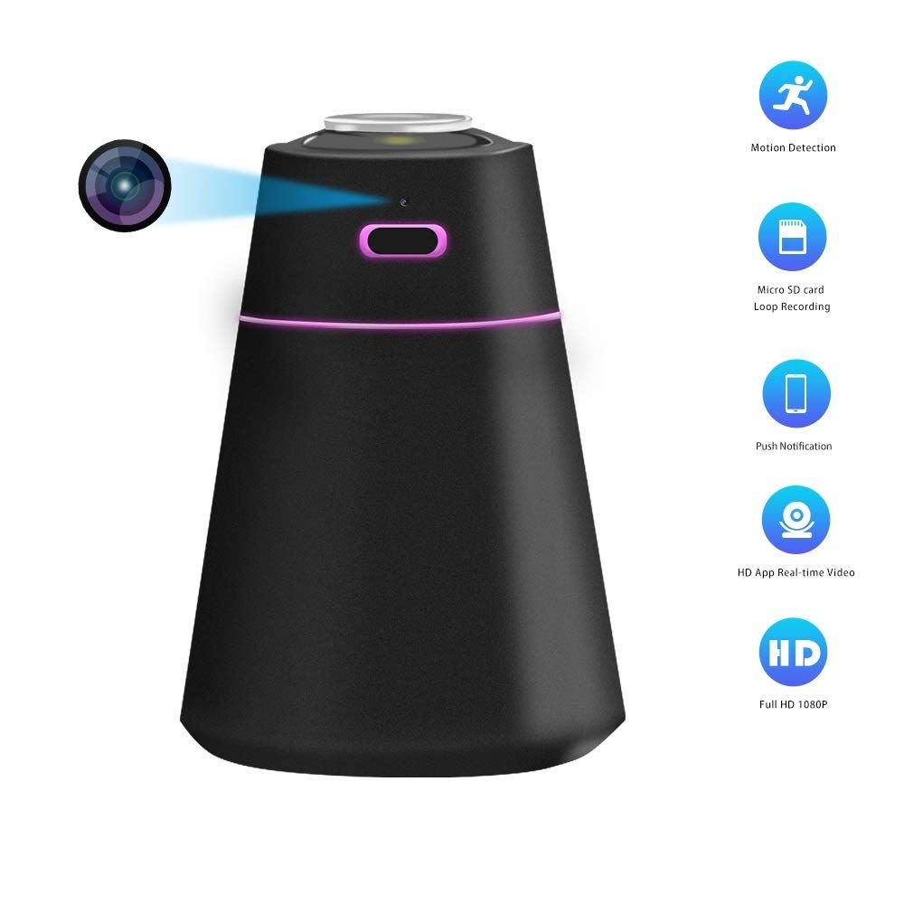Hidden Camera Humidifier with Full HD 1080P Mini WiFi Spy