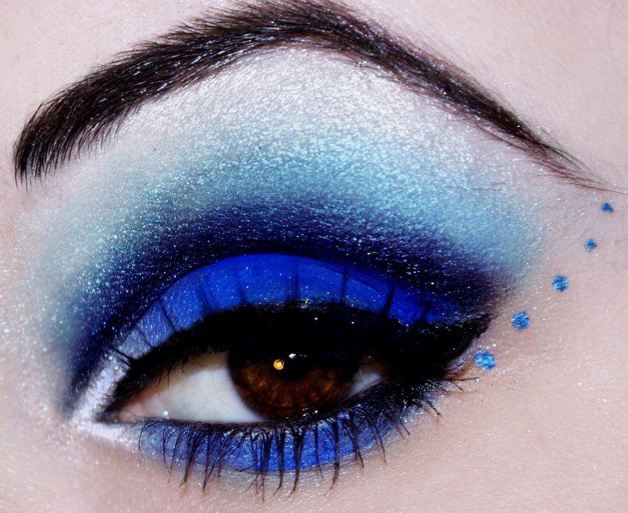 макияж синего цвета фото вами