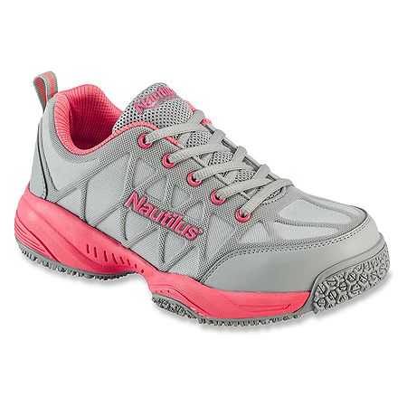 Nautilus Safety Footwear 2155 Comp Toe Athletic Women S Gray Leather Shoes Womens Athletic Shoes Nike Shoes Women